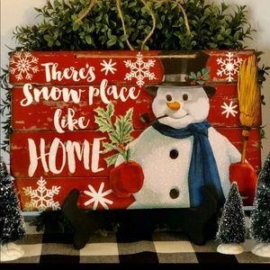Farmhouse Christmas Snowman Big Sign